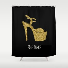 Gold dreams Shower Curtain