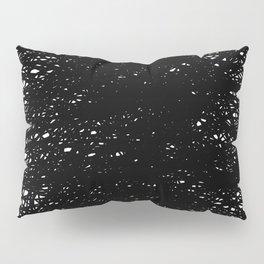 Static Abstract Dense Black & White Pillow Sham