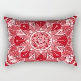 Holly Berry and White Mandala 4 Rectangular Pillow