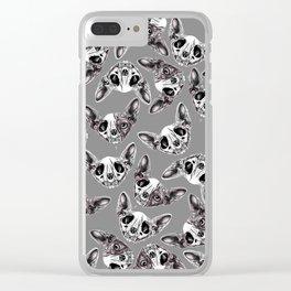 Shynx Half Skull Pattern Clear iPhone Case