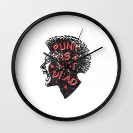Punk is not dead at all Wall Clock