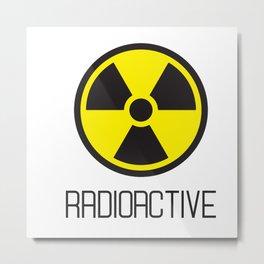radioactive logo Metal Print