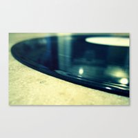 record Canvas Prints featuring Record by Derek Fleener