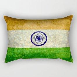 Flag of India - Grungy Vintage Rectangular Pillow