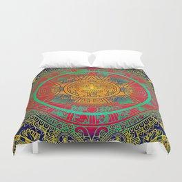 Aztec Sun God Duvet Cover