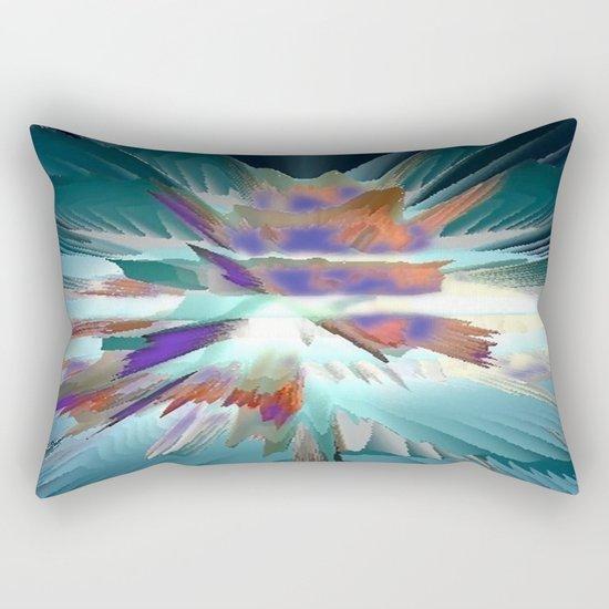Pow Teal Splash Rectangular Pillow