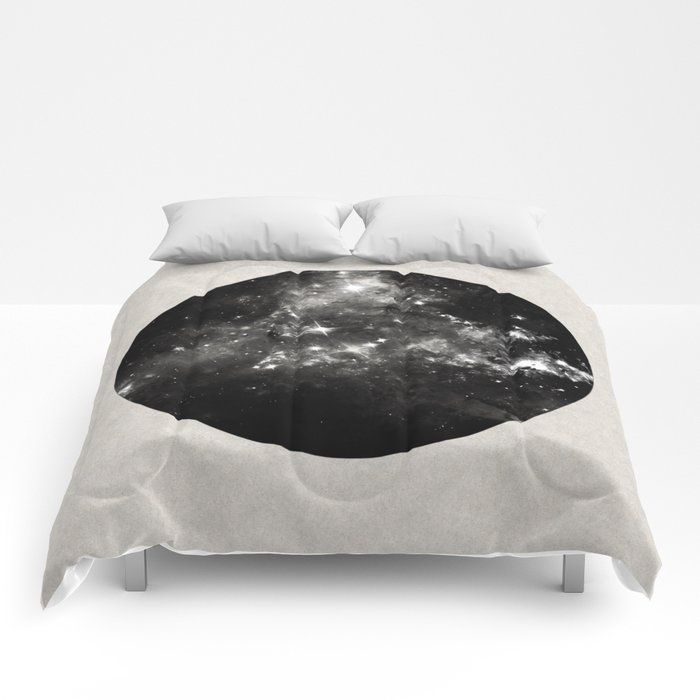 God's Window - Black And White Space Painting Comforters