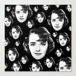Floating Ruby Keeler Head Canvas Print