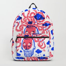 Octopus Thought Bubbles and Beards Backpack