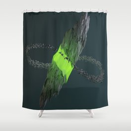Gravitational Fracture Shower Curtain