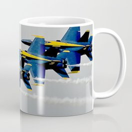 Navy's Blue Angels Airplanes in Formation Flight Coffee Mug