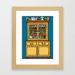kitchen cupboard art, kitchen cupboard, drawings kitchen decor, Framed Art Print
