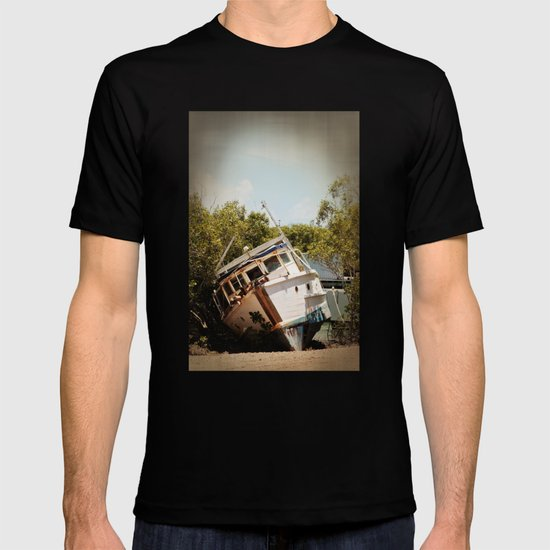 Grounded boat in need of some care T-shirt