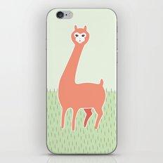 Green Meadows and a Peach Alpaca iPhone Skin