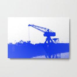 M A N Canal Port Crane Metal Print