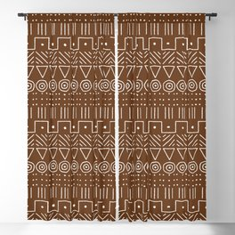 Mudcloth Style 1 in Brown Blackout Curtain