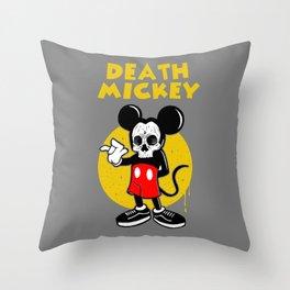 death mickey Throw Pillow