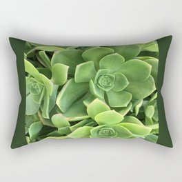 Succulents #1 Rectangular Pillow