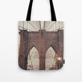 Moody Brooklyn Bridge Tote Bag