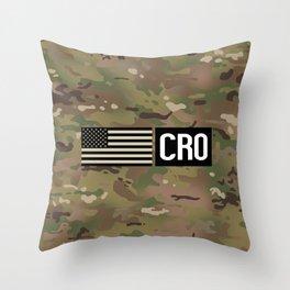 CRO (Camo) Throw Pillow