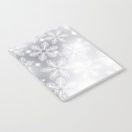 Snowflakes and lights Notebook