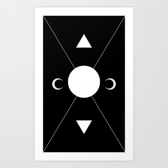 minimalist tarot deck Kunstdrucke