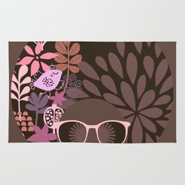 Afro Diva : Sophisticated Lady Pink Taupe Lavender Rug