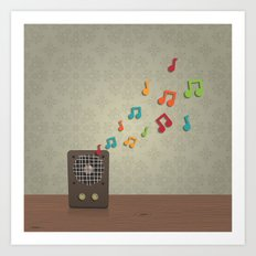 Speak To Me With Music Art Print