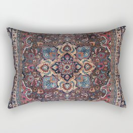 Persian Old Century Authentic Colorful Dusty Blue Pink Brown Vintage Patterns Rectangular Pillow