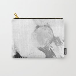 Abstract blur black and white circles monochrome Carry-All Pouch
