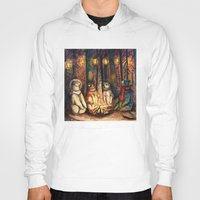 helen green Hoodies featuring Camp Meeting By Helen Green by Bear Picnic
