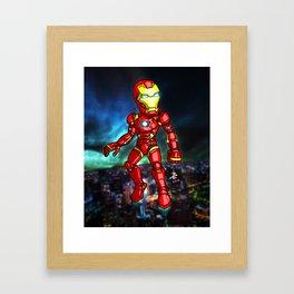 Iron Man Cartoon Framed Art Print