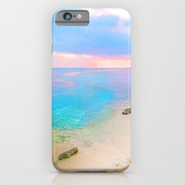 Dreamy sunset beach iPhone Case