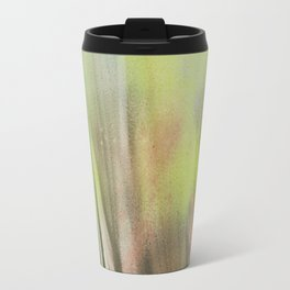 Waterfall of colors - abstract landscape watercolor monotype Travel Mug