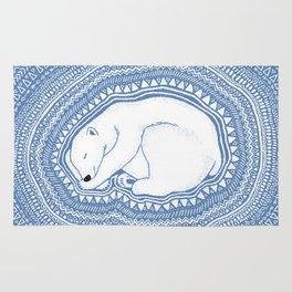 Polar bear, floe, pattern Rug
