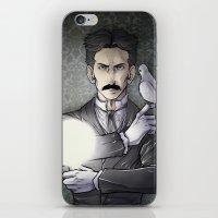 tesla iPhone & iPod Skins featuring Tesla by Isara