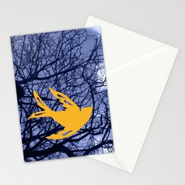 golden bird Stationery Cards