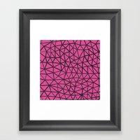 Segment A Pink Framed Art Print