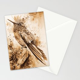 Sepia Little Bird Stationery Cards