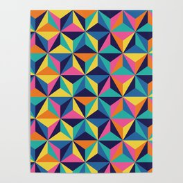 Sunset Triangles Poster