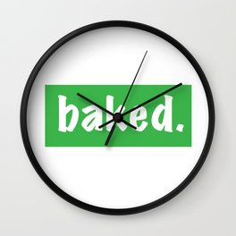 Baked Wall Clock