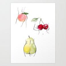 fruity ladies Art Print
