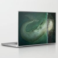 moby Laptop & iPad Skins featuring Moby Dick by Marilyn Foehrenbach
