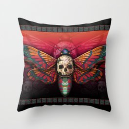 """Death colored moth"" Throw Pillow"