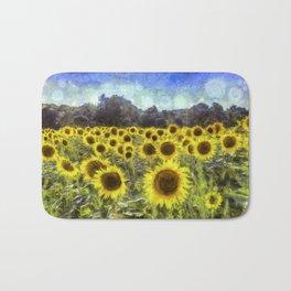Sunflower Fields Of Dreams Art Bath Mat