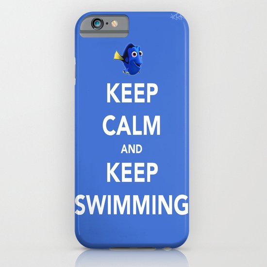Keep Calm And Keep Swimming iPhone & iPod Case
