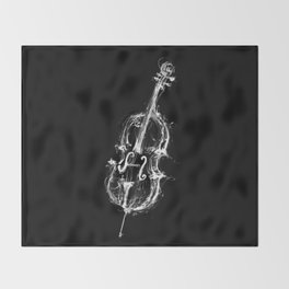 Black Cello Throw Blanket
