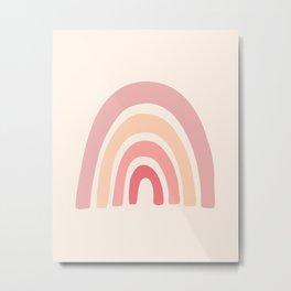 Rainbow Shape Abstraction Metal Print