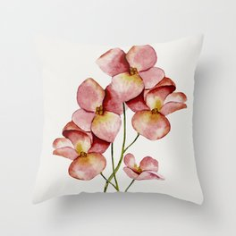 Soft Flowers Throw Pillow