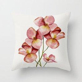 Soft Flowers Throw Pillow